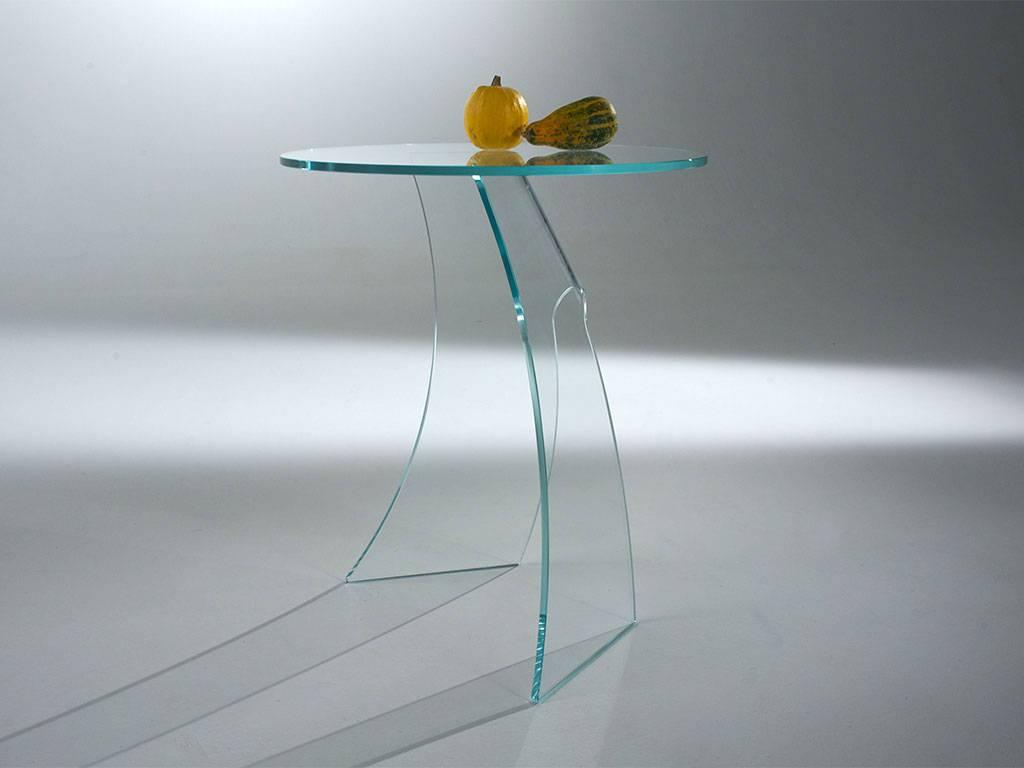 Tavolini in vetro curvato contemporanei e di stile for Tavolini in legno e vetro