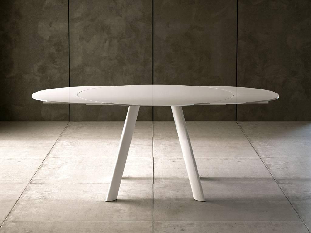 Eclipse Tavolo Rotondo Allungabile.Tavolo Rotondo Allungabile Vetro Tavoli Rotondi Da Salotto Con Come