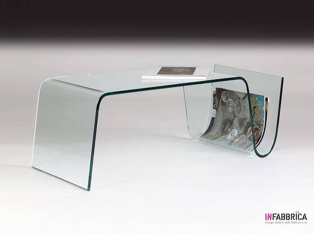 tavolino portariviste in vetro