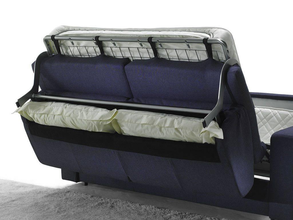 divano letto con contenitore per cuscini