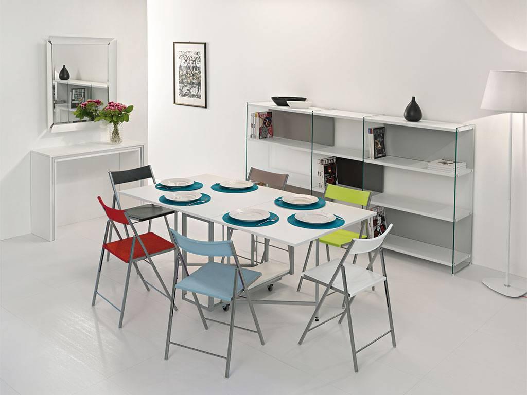 Idee da salotto tavoli consolle allungabili di design for Tavolo da salotto allungabile