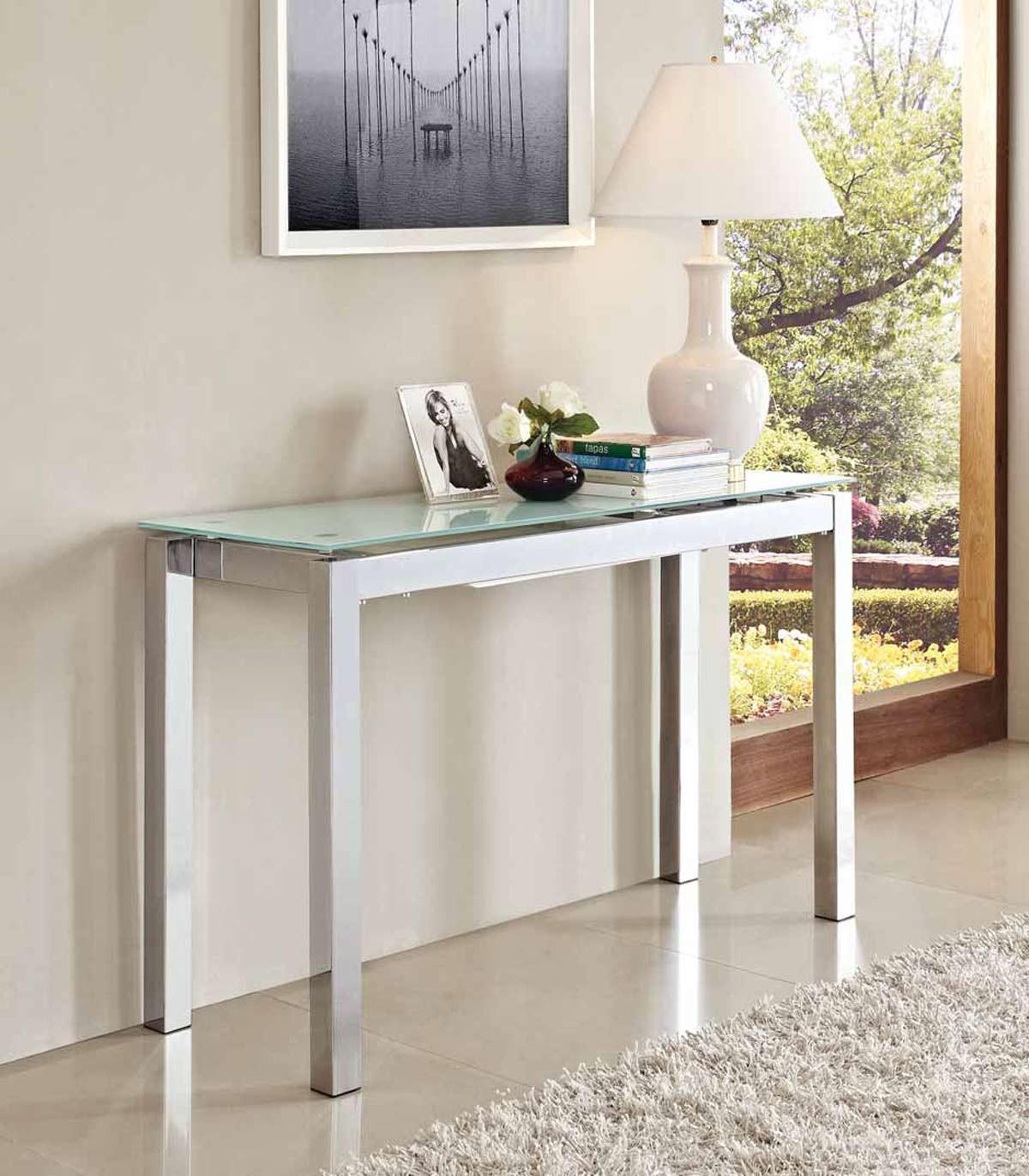 Idee da salotto tavoli consolle allungabili di design - Tavolo consolle allungabile mercatone uno ...