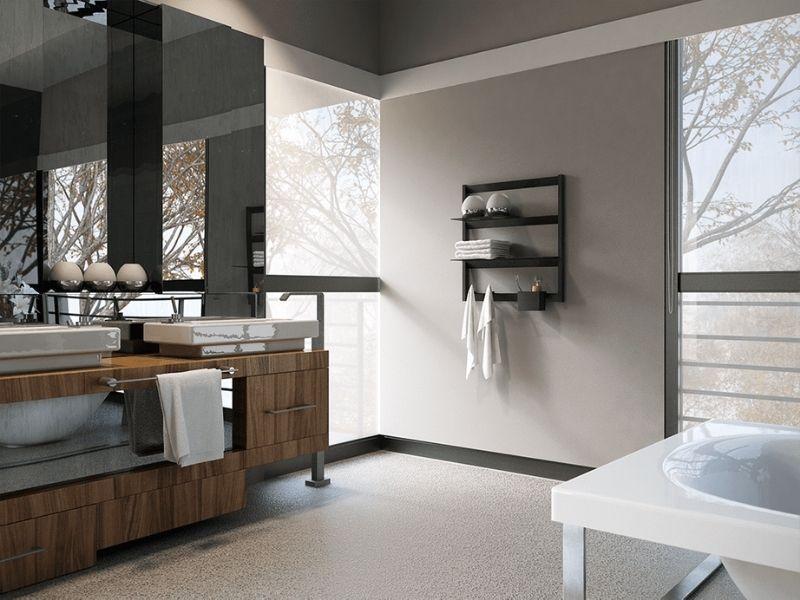 mensola porta asciugamani bagno