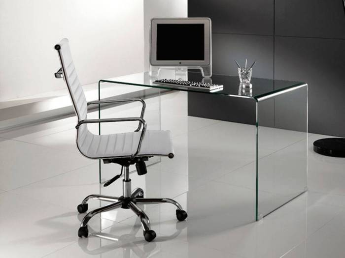 scrivanie in vetro, scrivanie per ufficio