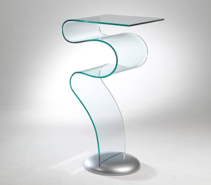 Le consolle in vetro curvato come abbinarle for Consolle in vetro per ingresso