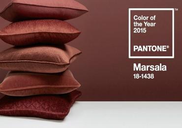 """Arredare con il marsala, """"colore dell'anno"""" 2015"""