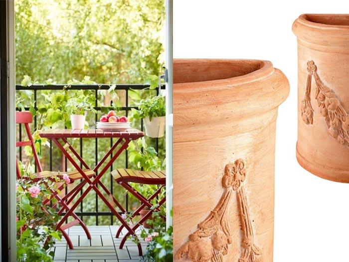 Come arredare un balcone con i vasi