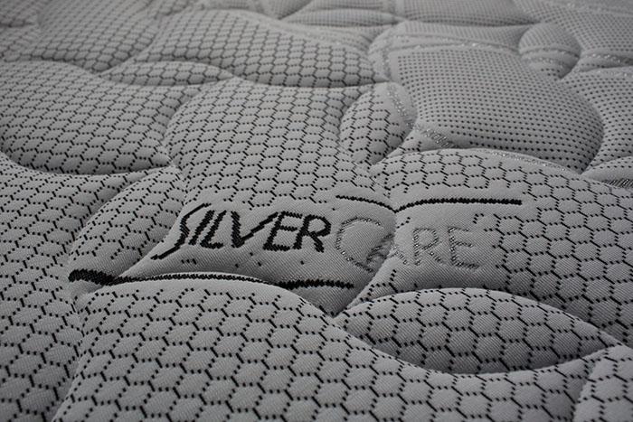 Relax, materasso a molle indipendenti con tessuto in silver care