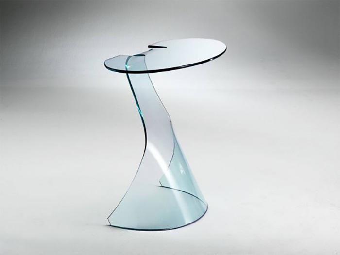 Tavolini e consolle in vetro curvato arredare con stile for Console per salotto