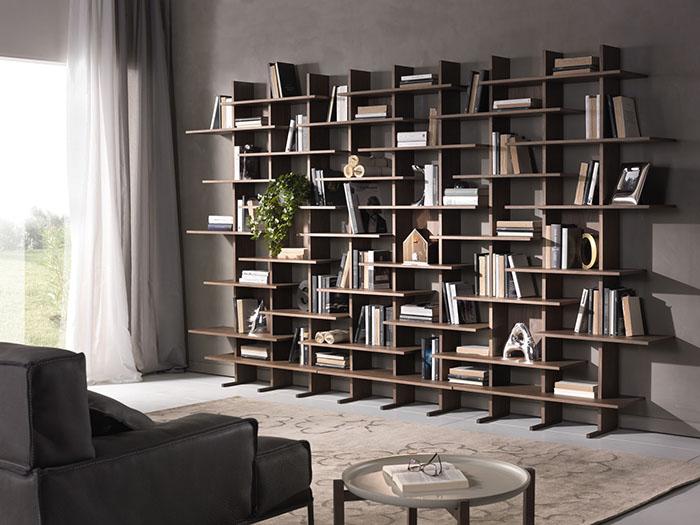5 librerie che rendono unico l 39 arredamento della tua casa for Librerie in legno componibili
