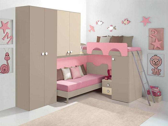 Idee salvaspazio per le camerette dei bambini infabbrica - Camerette con letto a soppalco ...
