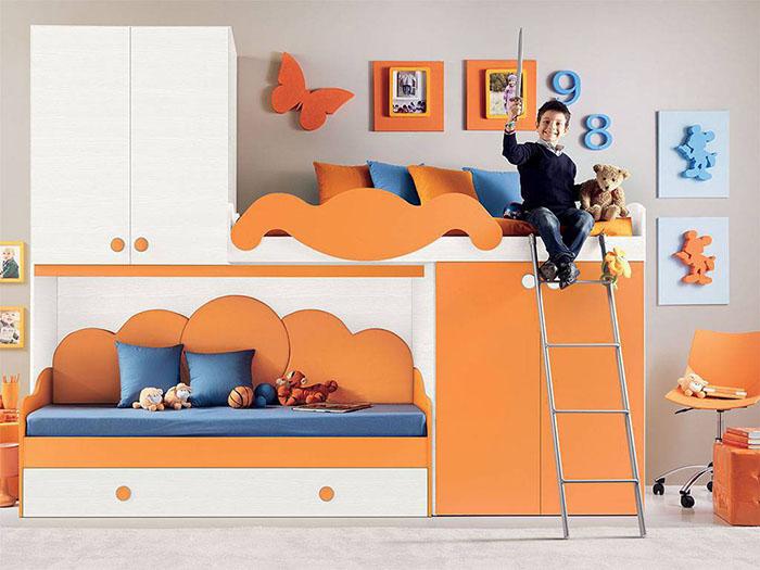 Idee salvaspazio per le camerette dei bambini infabbrica for Camera ragazzi con soppalco
