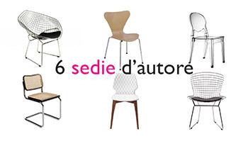 6 sedie di design, per una seduta d'autore a casa tua