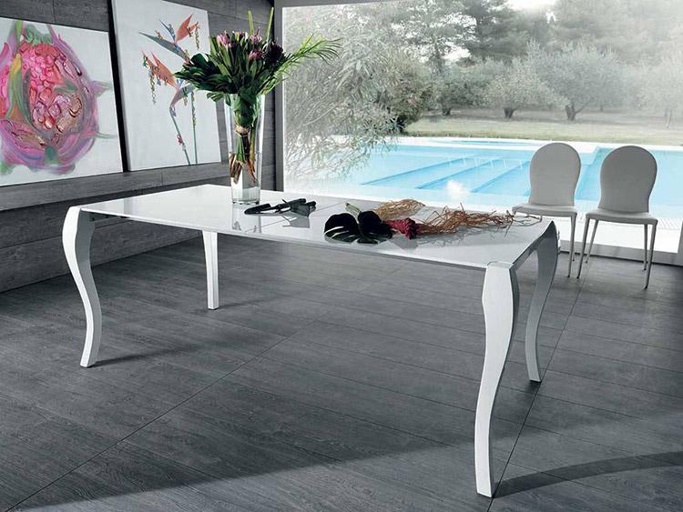 Tavoli da pranzo di design in legno o vetro for Tavoli soggiorno cristallo allungabili
