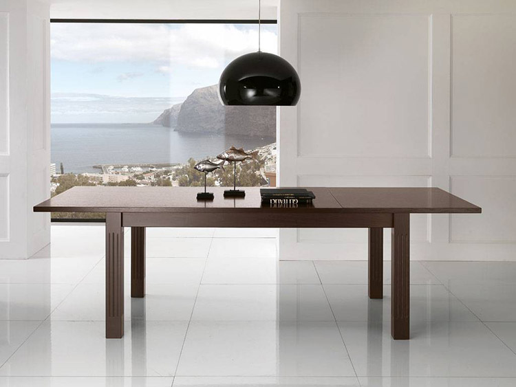Tavoli da pranzo di design in legno o vetro for Tavoli da pranzo in legno