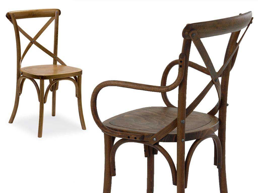 sedia legno shabby chic