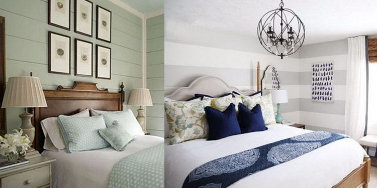 camera da letto righe