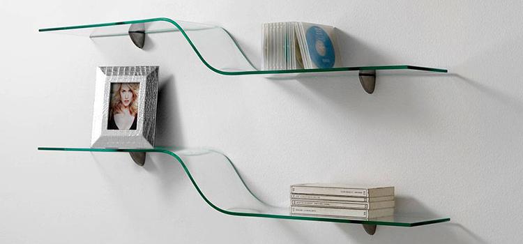 mensole design vetro