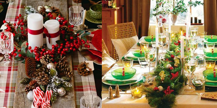 tavola natalizia centrotavola