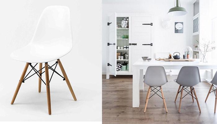 arredare sedie bianche legno