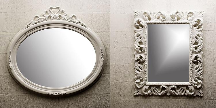 total white specchio barocco