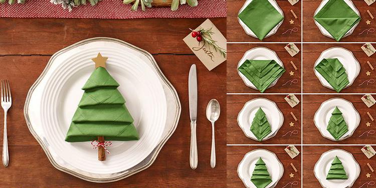 tavola natalizia tovaglioli