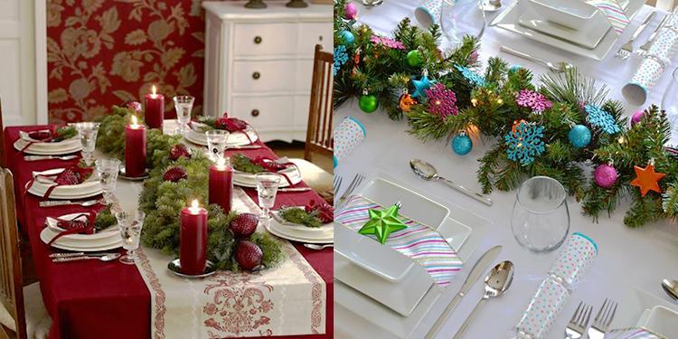tavola natalizia colori