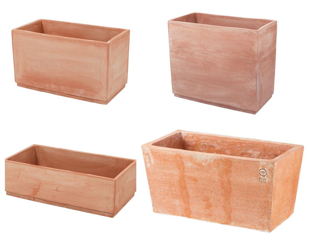 vasi rettangolari moderni terracotta
