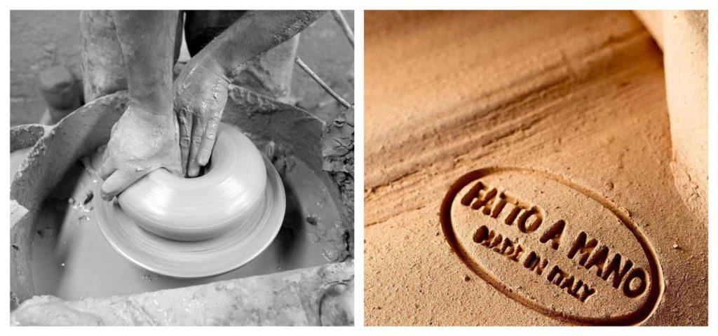 vasi terracotta infabbrica realizzati a mano