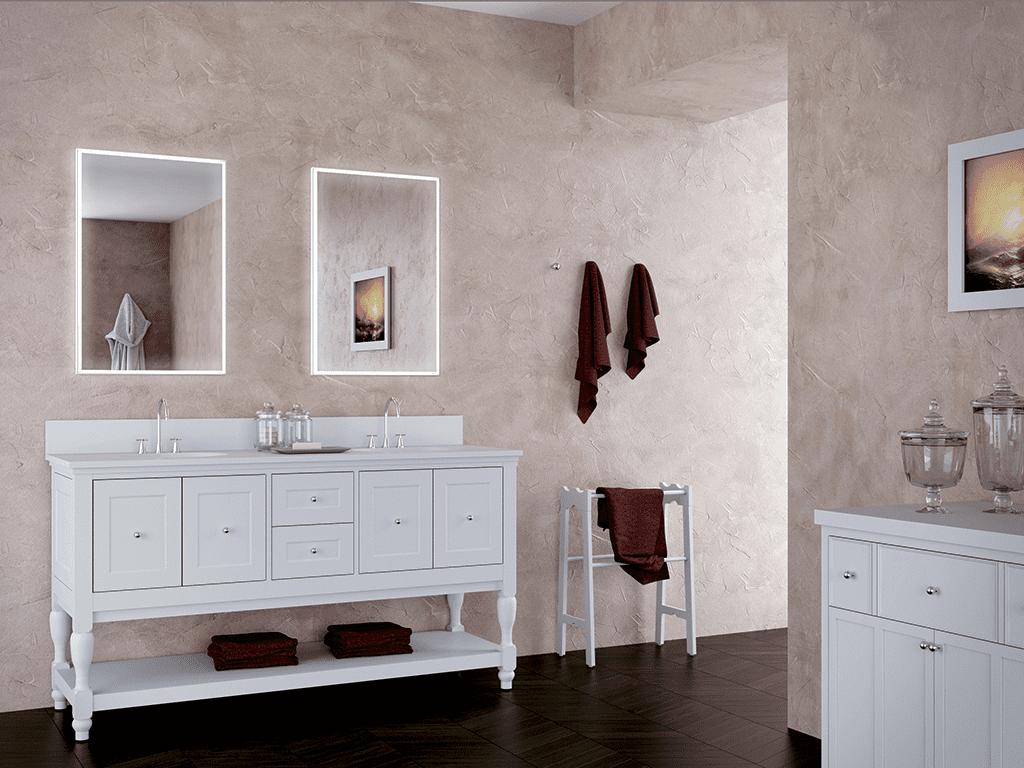 arredare bagno piccolo con specchi moderni