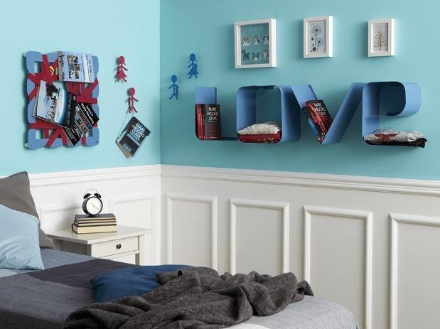 mensole moderne per camera da letto