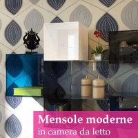 mensole-moderne in camera da letto