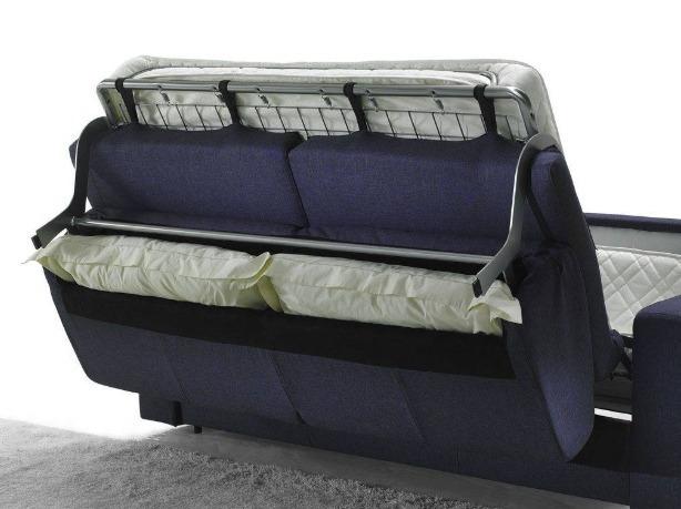 divano letto aperto porta cuscini