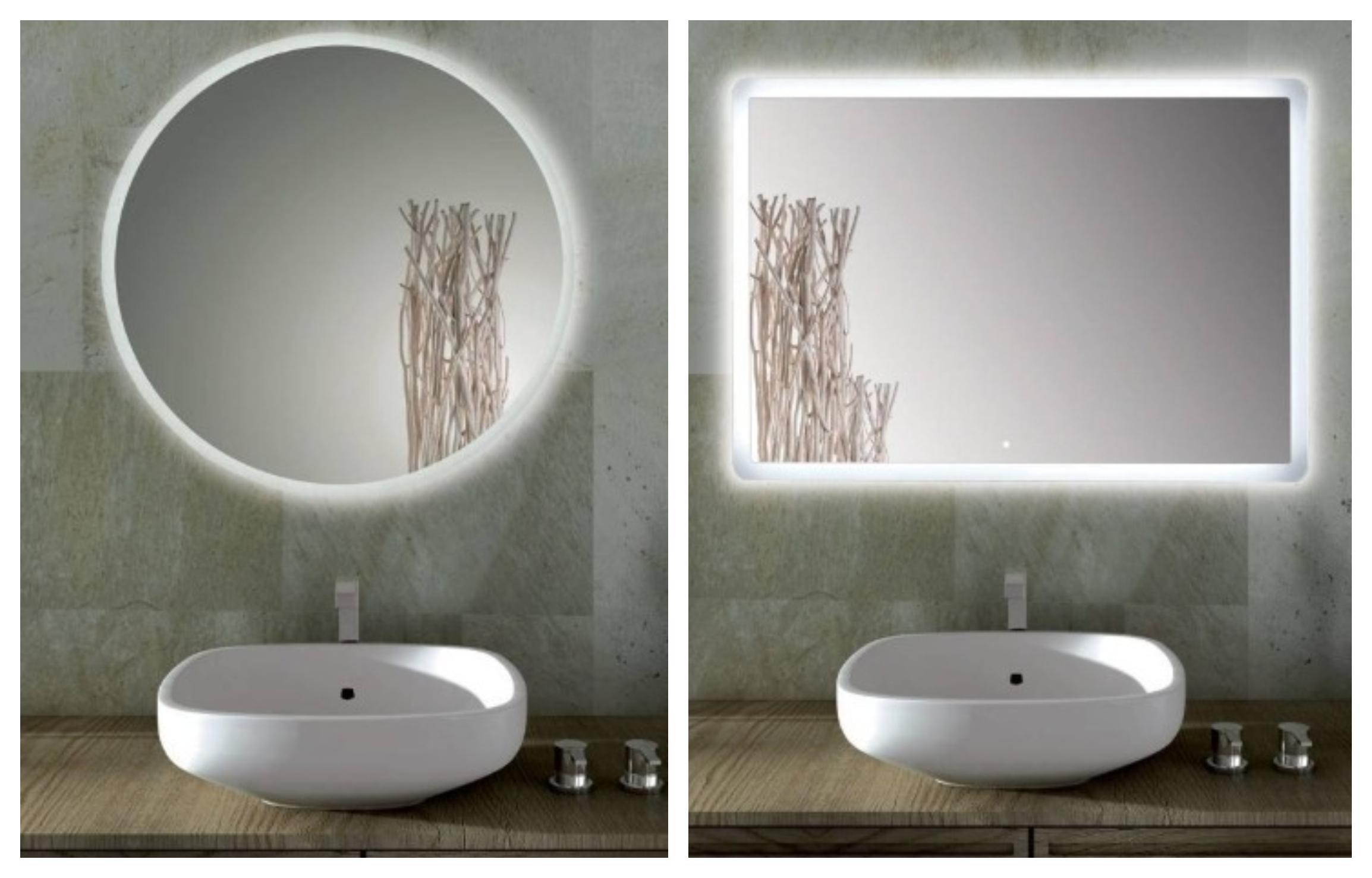 specchio bagno illuminato