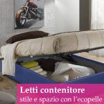 Letti contenitore in ecopelle per creare spazio in camera da letto