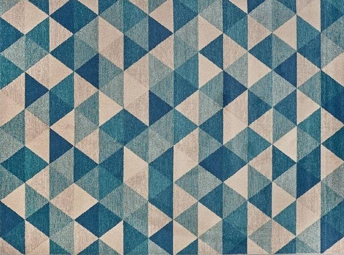 tappeto trama geometrica