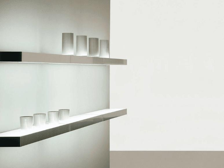 mensole luminose soggiorno
