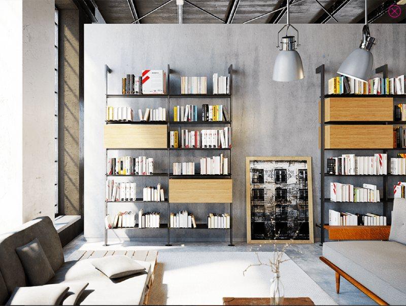 libreria ufficio moderna