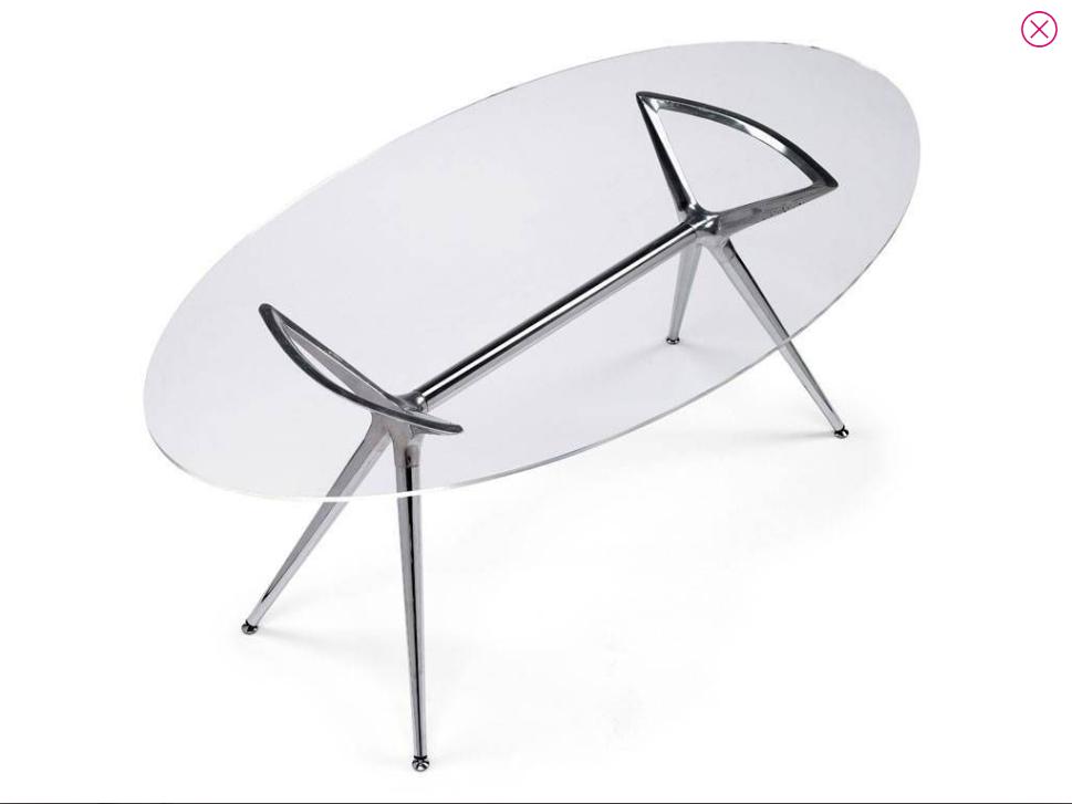 tavolo vetro ovale