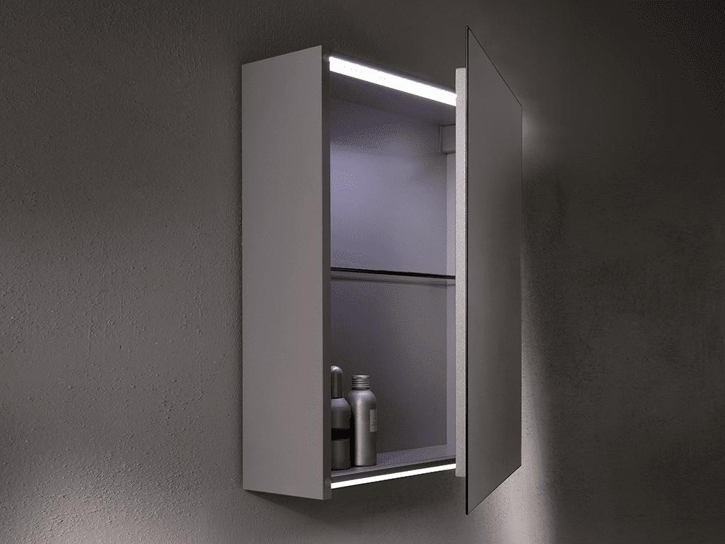 specchio contenitore bagno