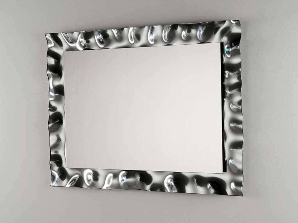 specchio da parete con cornice in vetro