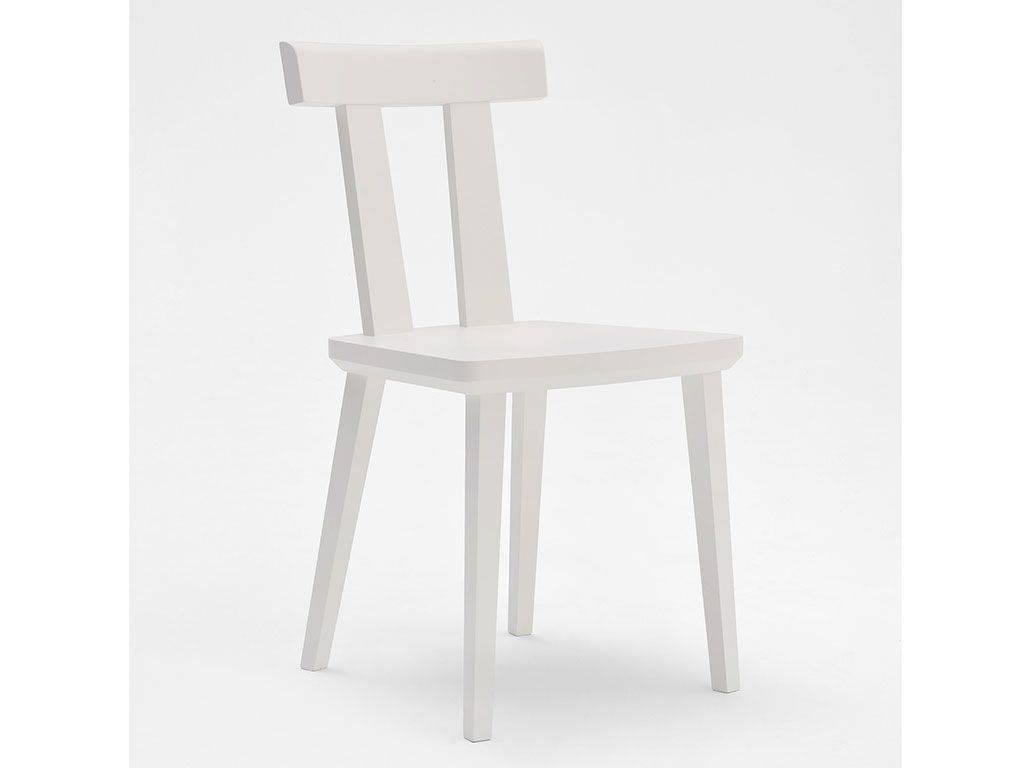 sedia il legno bianca stile scandinavo