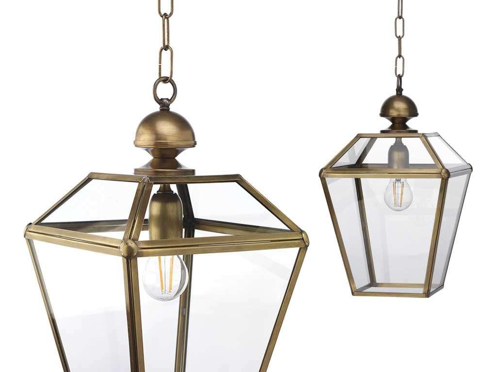 lampada in ottone classica