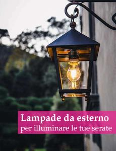 lanterna con lampadina vintage per esterni