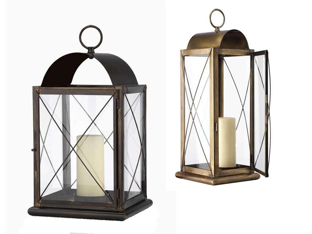 lanterna porta candela vintage