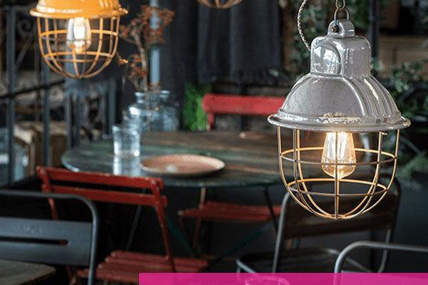 lampade vintage per ristorante