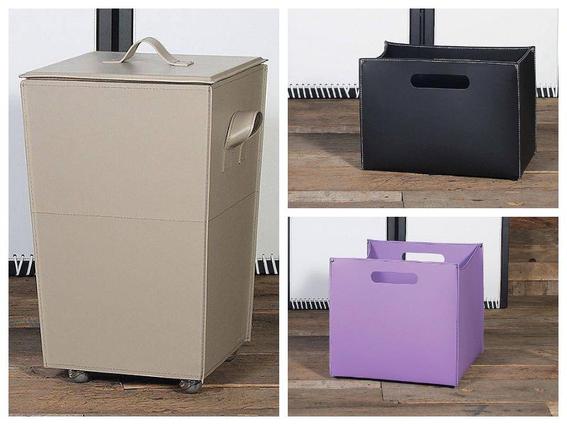 scatole porta oggetti di design in cuoio per la casa