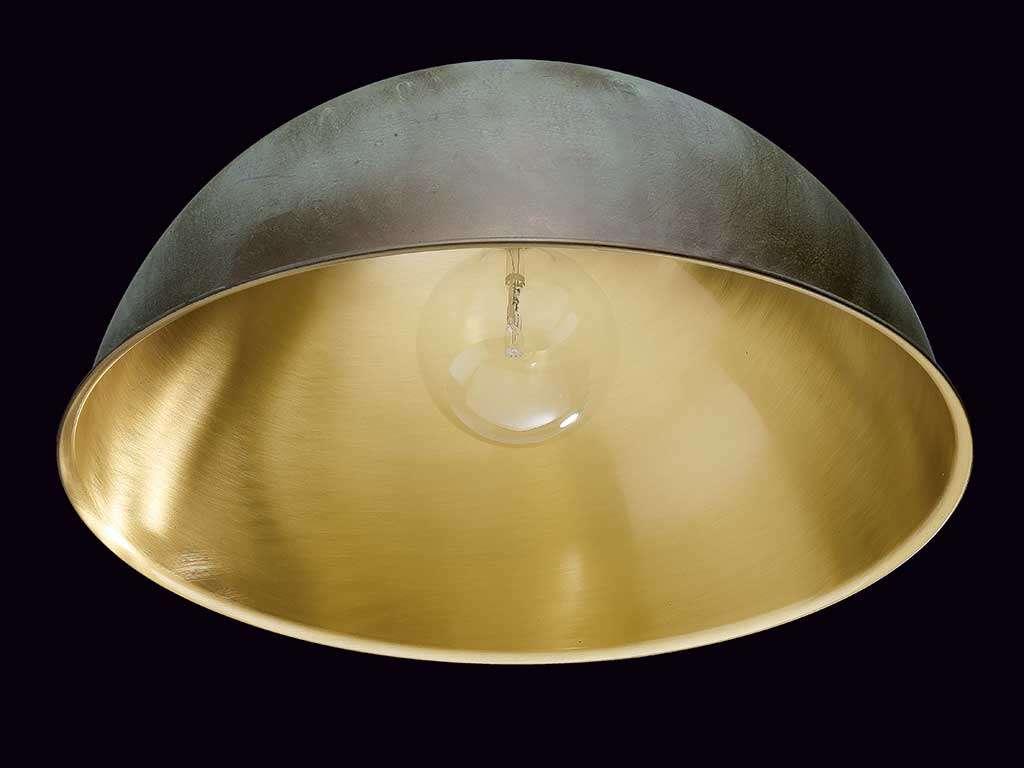 lampadario in ottone