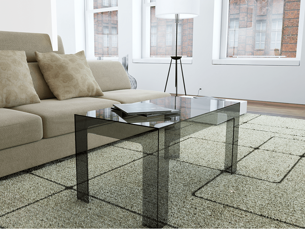 tavolino moderno trasparente
