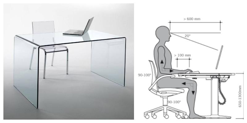 postura corretta scrivania